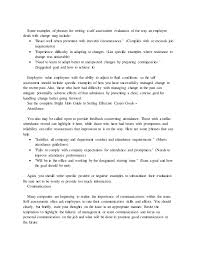 Completed Performance Appraisal Examples
