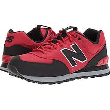 new balance shoes red and black. new balance classics ml574v1 (tempo red/black) mens running shoes red and black a
