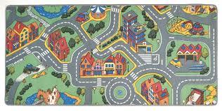 my neighborhood play rug rectangle 36 x 80 lc144 learning car track rug
