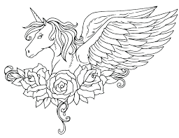 Unicorn Coloring Page Pages Kawaii Cute For Adults Free Printable