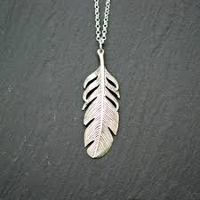sterling silver feather necklace bohemian jewelry large within
