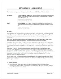 It Service Agreement Template Contract Document Level – Otograf Site