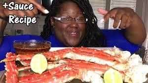 Sauce Recipe + King Crab Mukbang ...
