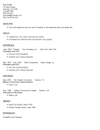 Ascii Resume Samples Resume Example 8 Free Resume Creator