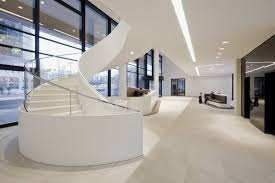 contemporary office design ideas. Entrance Hall Of Modern And Contemporary Office In White Interior Contemporary Office Design Ideas