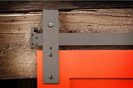 image of decorative barn door track system