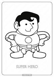 Superheroes colouring pages pdf children coloring idea superhero #2806811. Free Printable Super Hero Pdf Coloring Page