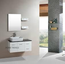 White Bathroom Vanity Cabinet Bathroom White Floating Bathroom Vanity Set With Large Mirror