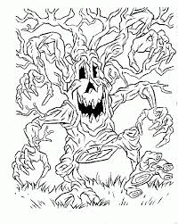 Small Picture Spooky Halloween Coloring Pages Spooky Halloween Coloring Pages