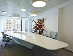 conference room table ideas. Exclusive White Office Conference Room With Unique Shaped Table And Some Meshing Chairs As Complement Ideas I