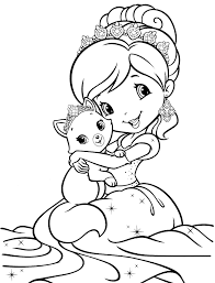 Small Picture Coloring Page Strawberry Shortcake Pages Games Online Printable