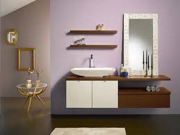 Teak Vanity Bathroom Teak Floating Shelves Over Toilet With Symmetrical Display Of