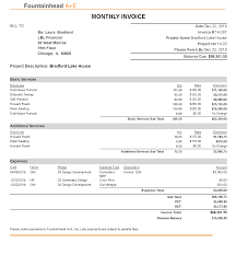 Services Invoice Sample Sample Invoice