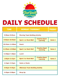 Summer Daily Schedule Template Basketball Camp Schedule Template Summer Daily Free Resume Templates