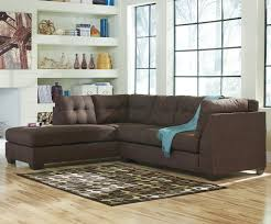 Walnut Living Room Furniture Benchcraft Maier Walnut 2 Piece Sectional W Sleeper Sofa Left