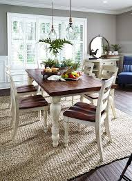 excellent dining room table sets white brown dining table and dining chairs beige plaid rug grey