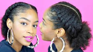 Natural Hairstyles Ponytails Flat Twist Ponytail On Natural Hair Natural Hairstyles Youtube