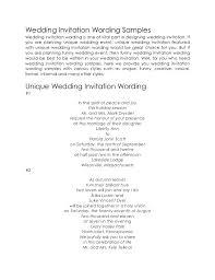 Sample Wedding Invitation Wording Wedding Invitation Wording Samples