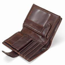 men s genuine leather wallet coin purse card case mens vintage trifold wallets