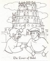 Small Picture Tower Of Babel Coloring Page Bible Pinterest Towers intended for
