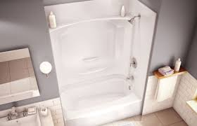 built in bathtub shower combination rectangular acrylic