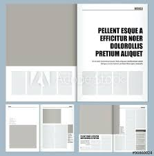 Modern Magazine Layout Template Design Front Page Templates