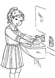 Small Picture Awesome Hand Washing Coloring Sheet Contemporary New Printable