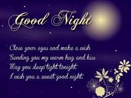 sweet goodnight messages for him
