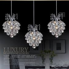modern chandelier crystal light pendants three piece lamp hung ceiling dome incredible fixture