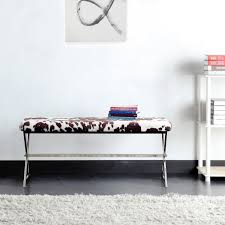 Southport Cowhide Print 40-inch Metal Bench by iNSPIRE Q Bold - Free  Shipping Today - Overstock.com - 15502620