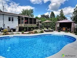 rue nicole jerome lafonne vendre duproprio cour arriere maison quebec province piscine creusee sel chauffe eau pour prolonger piscines creusees bon cout
