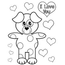 valentines day coloring pages. Contemporary Coloring Bear Saying I Love You On Valentines Day Coloring Page To Print For Pages E