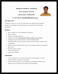 Sample Resume Format For Experienced Resume Format Samples In Word