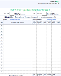 Daily Activities Template 3 Best Examples Daily Report Template Free Templates Download