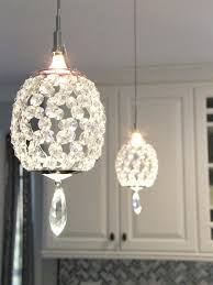 creatives interior crystal pendant lighting decorating ideas transitional kitchend indoor decorated reclaimed beautifully