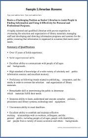 Sample Librarian Resume Type Your Address Here, Type Your Address ...