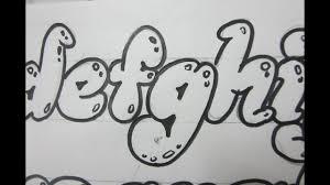 Bubble Letter Designs How To Draw Lower Case Letters Bubble Letters