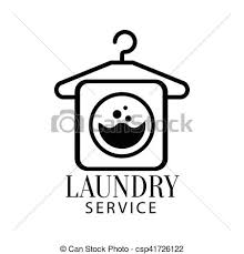 hanging laundry clipart black and white. Plain Hanging Black And White Sign For The Laundry Dry Cleaning Service With Hanger  Washing Machine Intended Hanging Clipart
