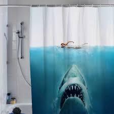 shark jaws shower curtain custom shower curtain