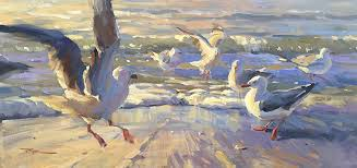 fine art oil on canvas impressionistic paintings by new zealand artist richard robinson