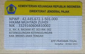 Nomor pokok wajib pajak (npwp) nomor pokok wajib pajak atau npwp adalah sarana administrasi perpajakan yang dipergunakan sebagai tanda pengenal diri atau identitas wajib pajak.format npwp terdiri dari angka 15 digit dengan makna:9 digit yang pertama menunjukkan kode wp dan 6 digit kedua merupakan kode administrasi perpajakan.format umumnya nampak sebagai berikut : Pendaftaran Npwp Baru Cetak Fisik Jasa 829560493