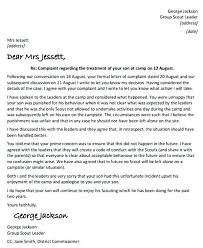 Template For A Complaint Letter Gotostudy Info