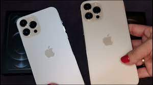 iPhone 12 Pro Max Silver Vs iPhone 12 Pro Max Gold - YouTube