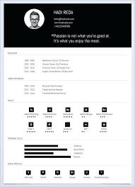 Web Resume Templates 4 Column Grid Single Page Resume Template Web