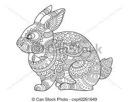 Volwassen Kleurplaten Konijnen Frbung Erwachsene Kaninchen Vektor