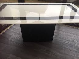 scs black and white marble coffee table image 1 of 2