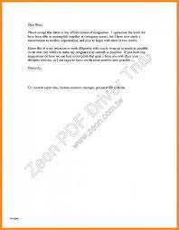 Sample Resignation Letter 2 Week Notice - Tier.brianhenry.co
