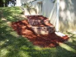 building a terraced retaining wall and