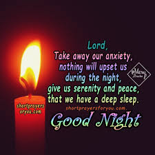 Good Night Prayer Quotes Fascinating Good night God We will have a quiet sleep Christian prayer for