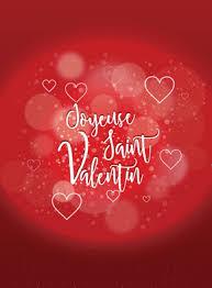 Carte De St Valentin Carte Joyeuse Saint Valentin Sur Fond Rouge